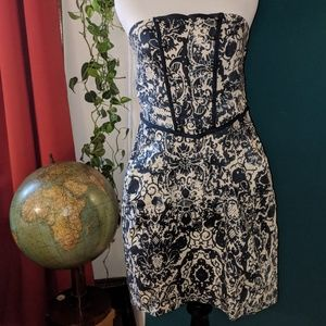 Military Style Floral Dress
